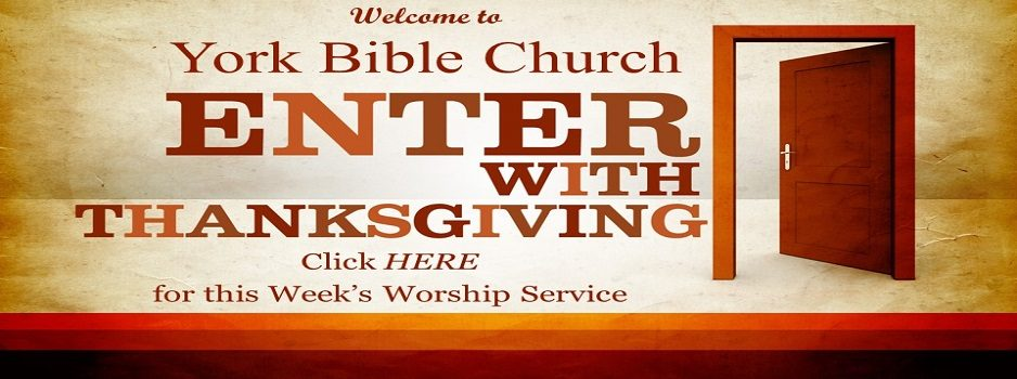November This Week's Service