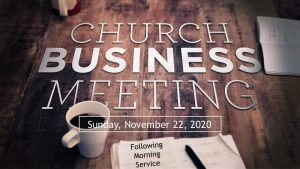 Church Business Meeting - 2020