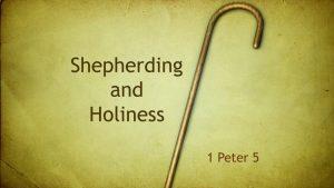 Shepherding and Holiness